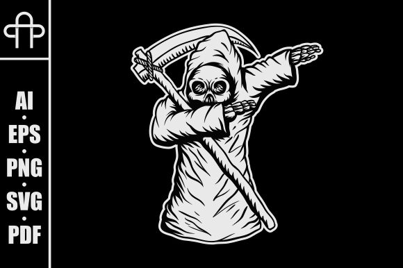 Print on Demand: Dabbing Death Skull Graphic Illustrations By Andypp