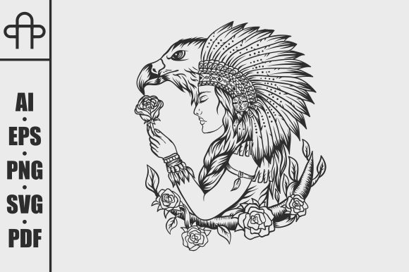 Print on Demand: Female Native American Graphic Illustrations By Andypp