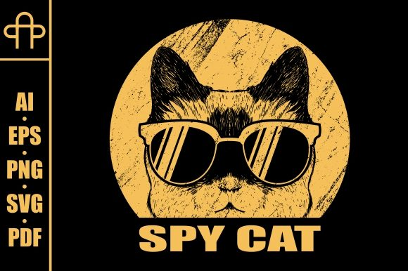 Print on Demand: Spy Cat Retro Graphic Illustrations By Andypp