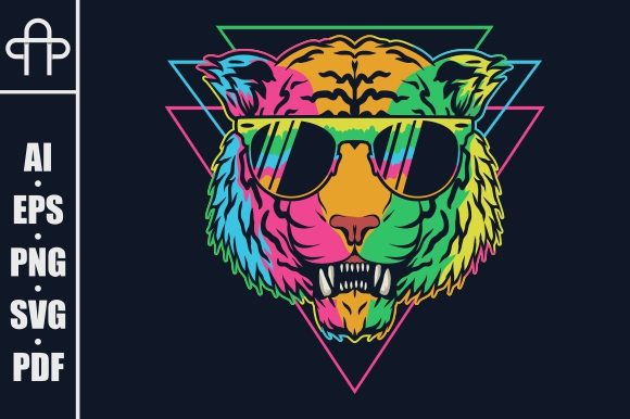 Print on Demand: Tiger Colorful Graphic Illustrations By Andypp