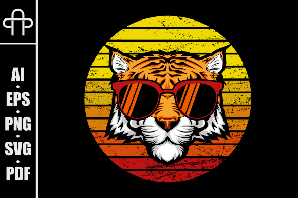 Print on Demand: Tiger Retro Graphic Illustrations By Andypp