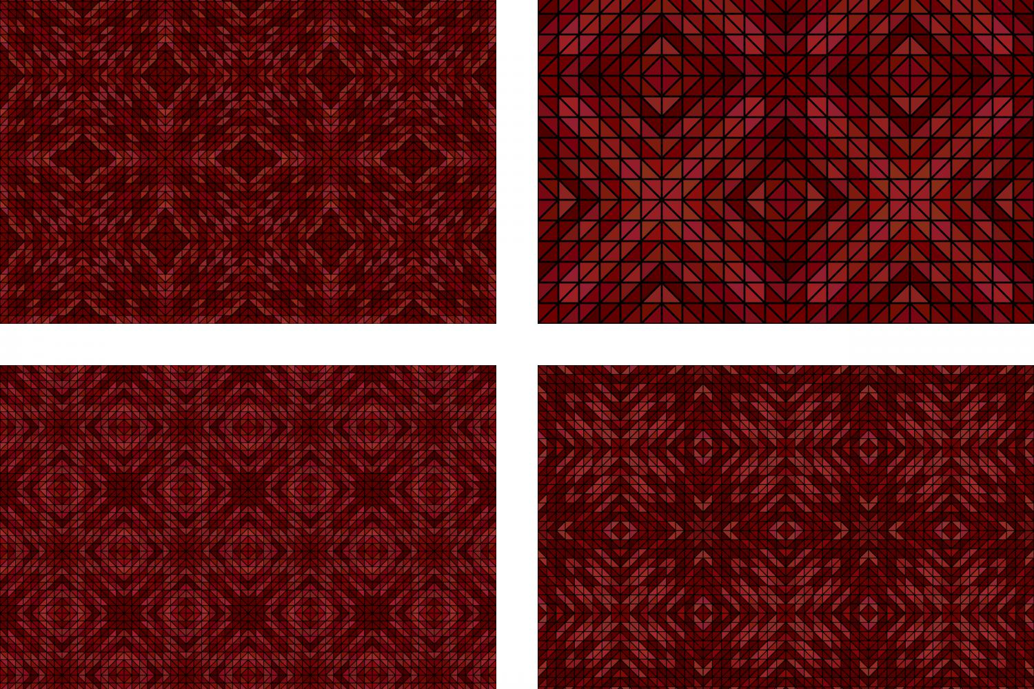 Download Free 4 Seamless Mosaic Patterns Graphic By Davidzydd Creative Fabrica for Cricut Explore, Silhouette and other cutting machines.
