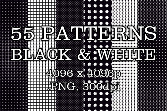 55 Black & White Patterns Graphic Patterns By vessto