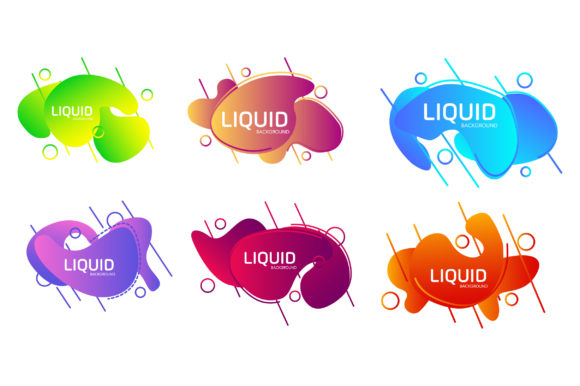 Print on Demand: Abstract Liquid Shape Template Graphic Backgrounds By Frog Ground
