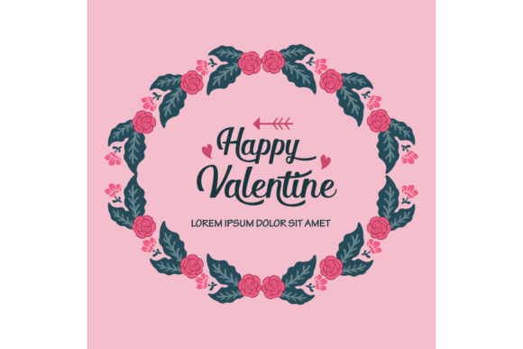 Download Free Happy Valentine Day Card Graphic By Stockfloral Creative Fabrica for Cricut Explore, Silhouette and other cutting machines.