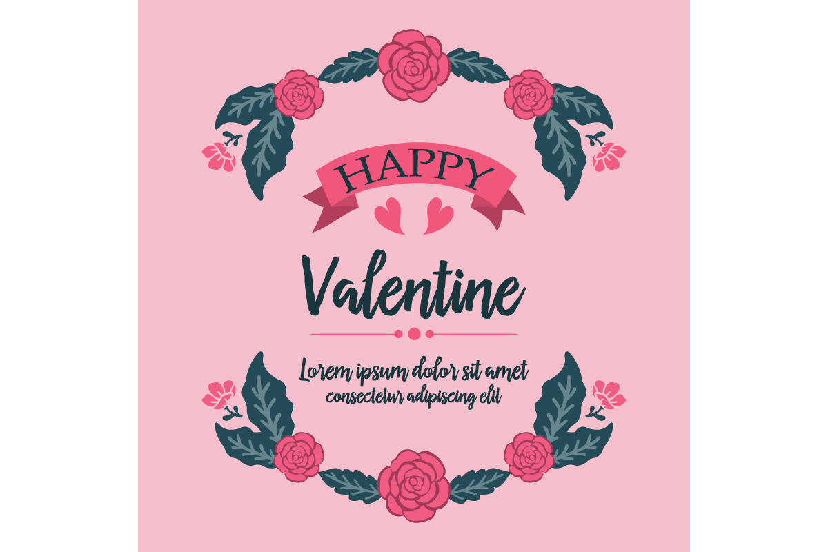 Beautiful Floral For Happy Valentine Graphic By Stockfloral