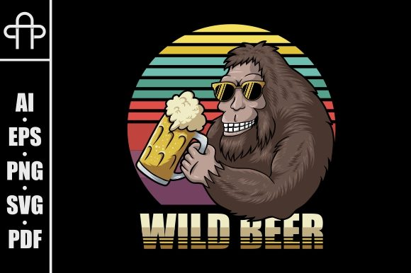 Print on Demand: Bigfoot Beer Retro Illustration Graphic Illustrations By Andypp