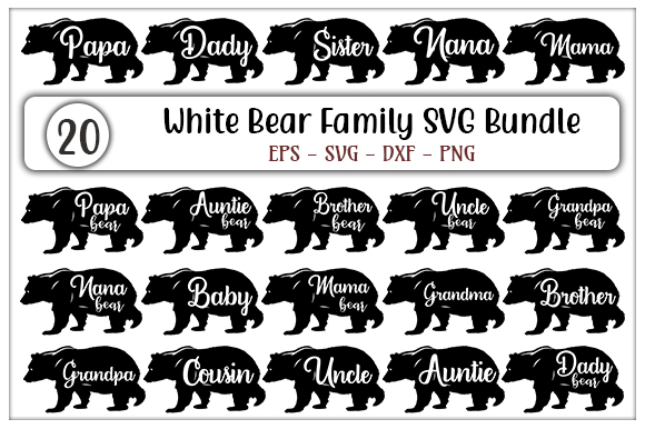 Download Free Black Bear Family Svg Designs Bundle Graphic By Graphicsbooth for Cricut Explore, Silhouette and other cutting machines.