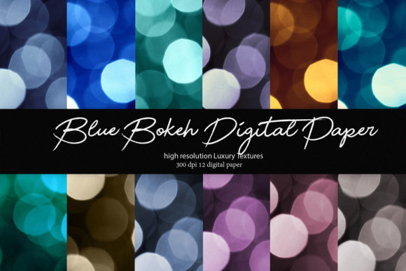 Download Free Blue Bokeh Digital Paper Graphic By Daydesign Creative Fabrica for Cricut Explore, Silhouette and other cutting machines.