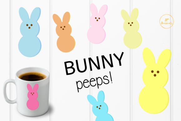 Download Free Bunny Peeps Easter Clip Art Graphic By Jpjournalsandbooks for Cricut Explore, Silhouette and other cutting machines.
