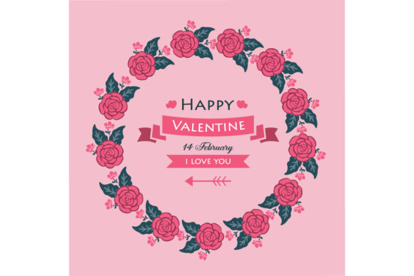 Card Happy Valentine Graphic Backgrounds By stockfloral