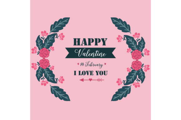 Card Template of Happy Valentine Graphic Backgrounds By stockfloral