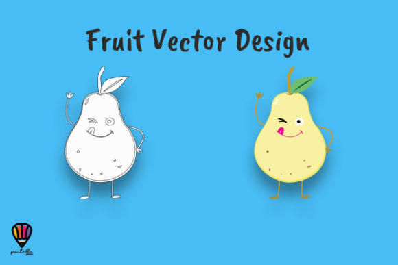 Download Free Cartoon Pear Vector Illustration Graphic By Printablesplazza for Cricut Explore, Silhouette and other cutting machines.