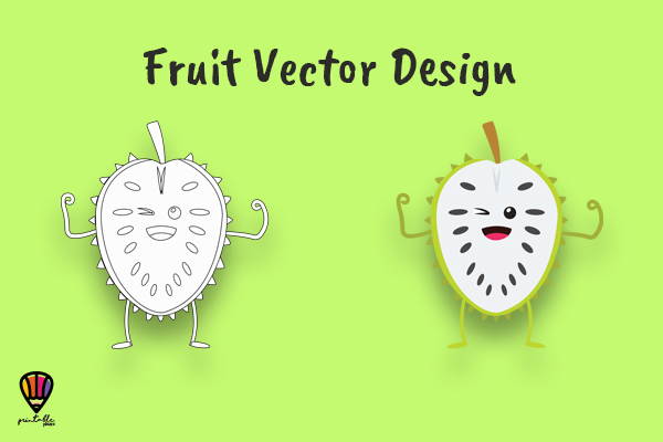 Download Free Cartoon Soursop Vector Illustration Graphic By Printablesplazza for Cricut Explore, Silhouette and other cutting machines.