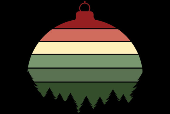 Print on Demand: Christmas Xmas Tree Ornament Clipart Graphic Illustrations By SunandMoon