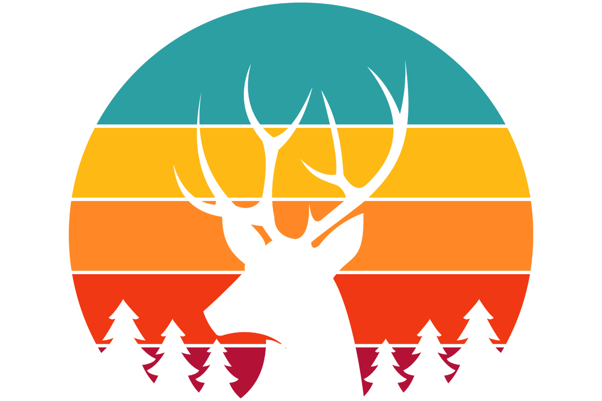 Download Free Deer Buck Hunting Retro Vintage Sunset Graphic By Sunandmoon for Cricut Explore, Silhouette and other cutting machines.