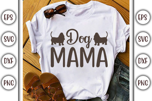 Download Free Dog Mama Dog Quote Svg Design Graphic By Graphicsbooth for Cricut Explore, Silhouette and other cutting machines.