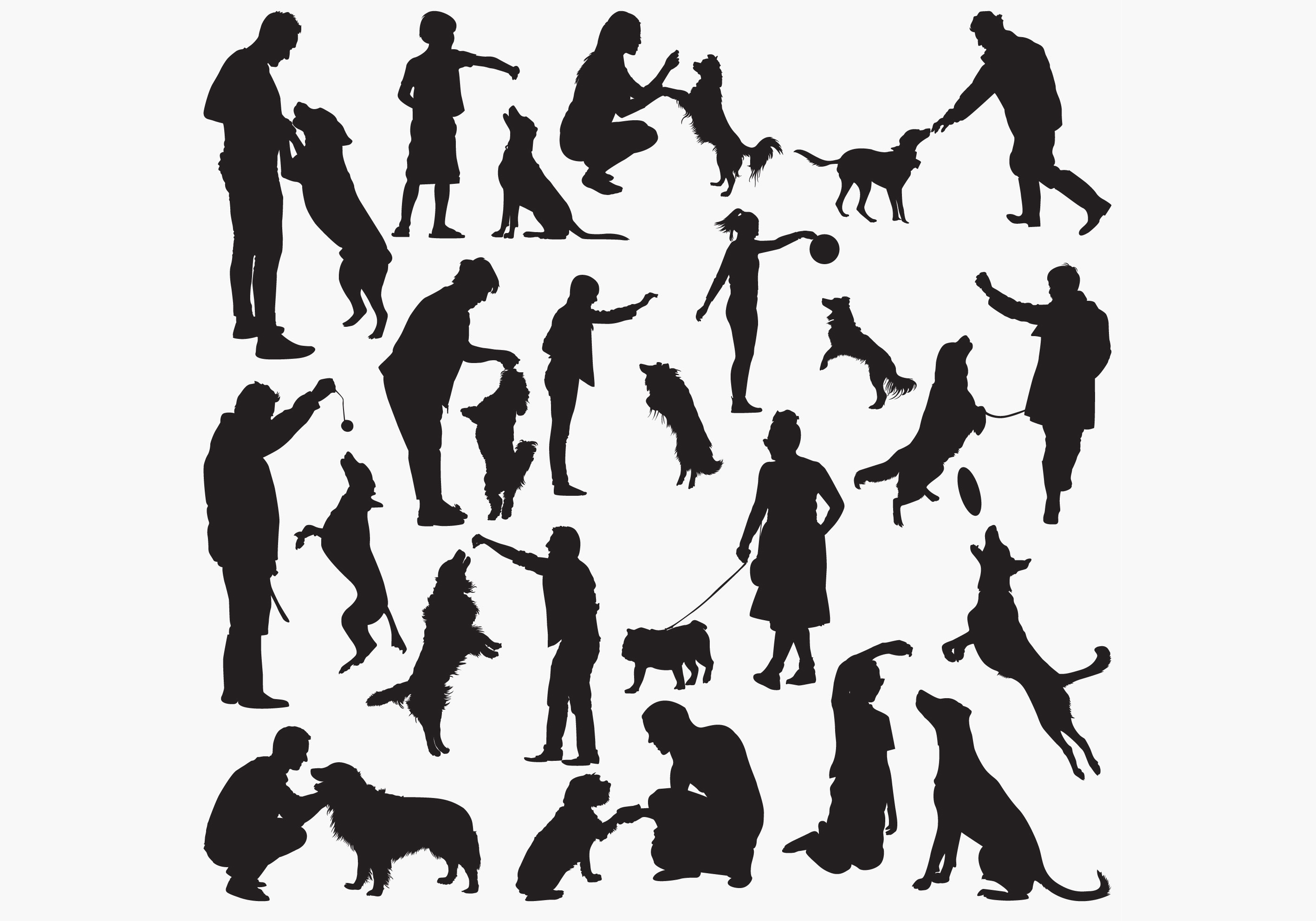 Download Free Dog Tranningsilhouettes Graphic By Octopusgraphic Creative Fabrica SVG Cut Files