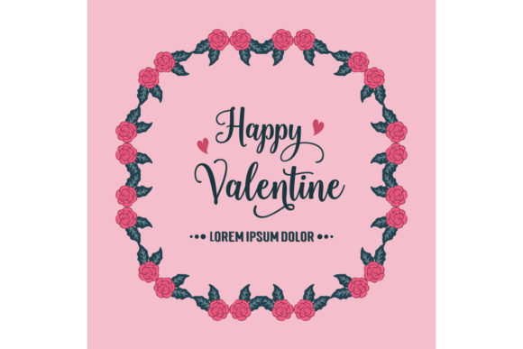 Elegant Banner Template Happy Valentine Graphic Backgrounds By stockfloral