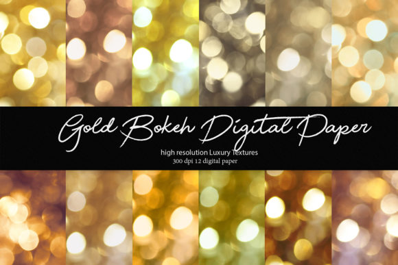 Download Free Gold Bokeh Digital Paper Graphic By Siriustr Creative Fabrica for Cricut Explore, Silhouette and other cutting machines.
