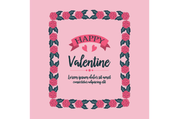 Download Free Greeting Card Happy Valentine Graphic By Stockfloral Creative for Cricut Explore, Silhouette and other cutting machines.