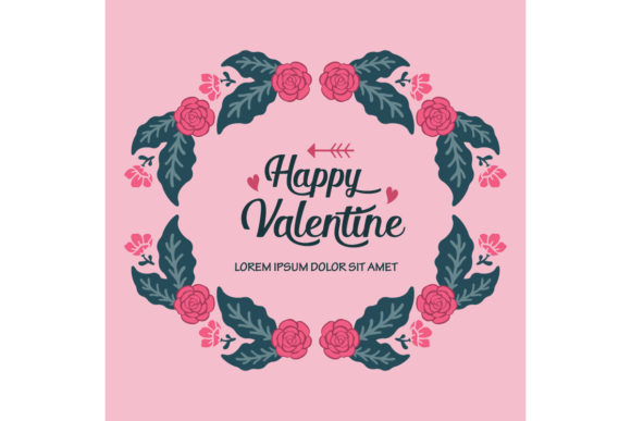 Download Free Happy Valentine Day Greeting Card Graphic By Stockfloral for Cricut Explore, Silhouette and other cutting machines.