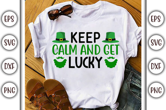 Download Free Keep Calm And Get Lucky Svg Design Graphic By Graphicsbooth for Cricut Explore, Silhouette and other cutting machines.
