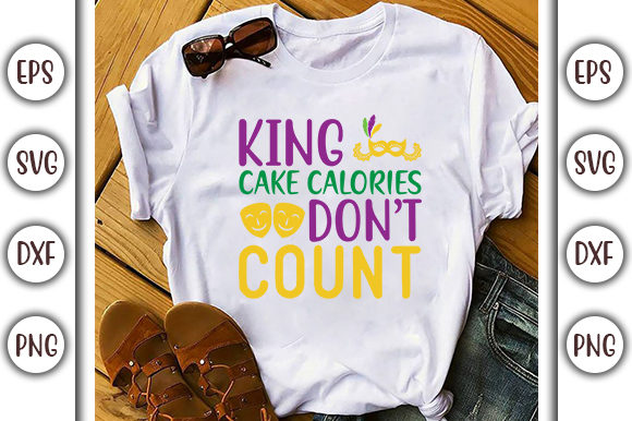 Download Free King Cake Calories Svg Design Graphic By Graphicsbooth SVG Cut Files