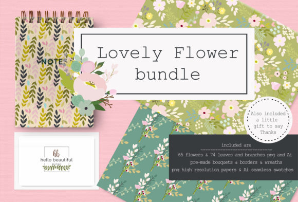 Lovely Flower Bundle Illustration Graphic Illustrations By ThePaperOwl
