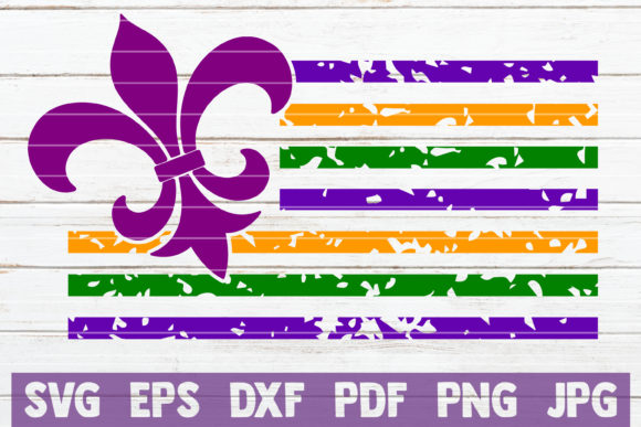 Mardi Gras Flag Graphic Graphic Templates By MintyMarshmallows