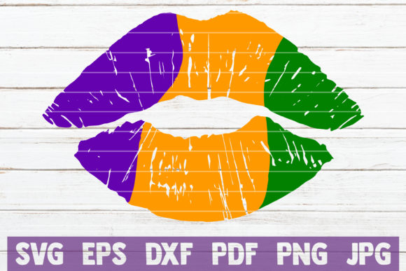 Download Free Mardi Gras Lips Graphic By Mintymarshmallows Creative Fabrica for Cricut Explore, Silhouette and other cutting machines.