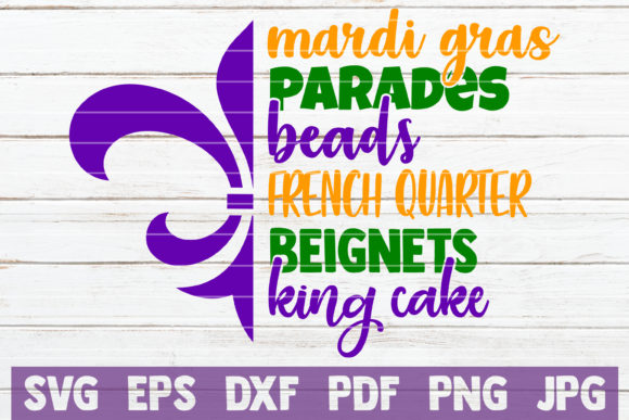 Download Free Mardi Gras Word Art Graphic By Mintymarshmallows Creative Fabrica for Cricut Explore, Silhouette and other cutting machines.