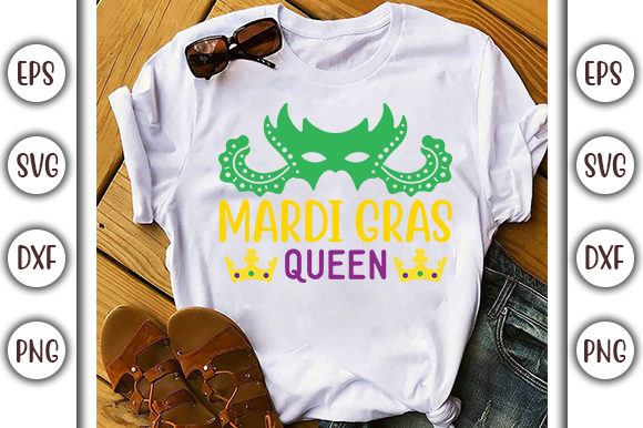Download Free Mardi Gras Queen Mardi Gras Svg Design Graphic By Graphicsbooth for Cricut Explore, Silhouette and other cutting machines.