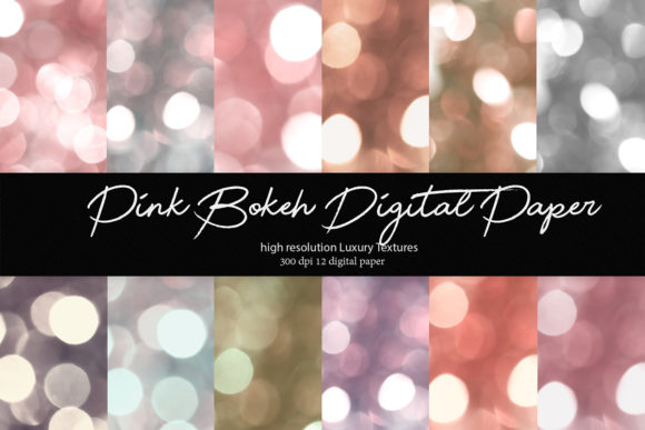 Print on Demand: Pink Bokeh Digital Paper Graphic Textures By DAYDESIGN