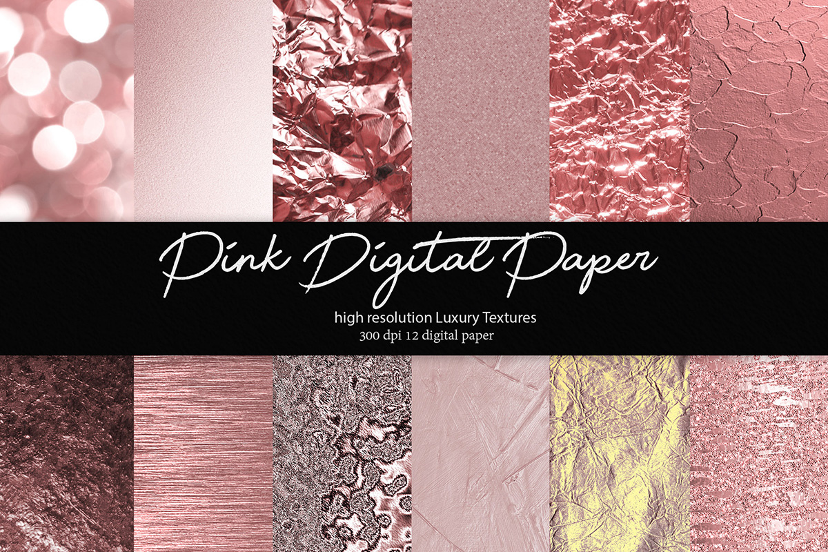 Download Free Pink Digital Paper Graphic By Daydesign Creative Fabrica for Cricut Explore, Silhouette and other cutting machines.