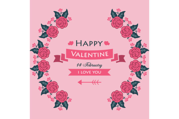 Poster of Happy Valentine Graphic Backgrounds By stockfloral
