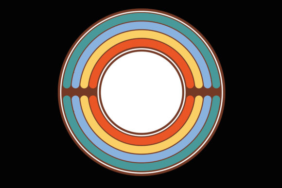 Print on Demand: Retro Colors Circle Sunset Solar Clipart Graphic Illustrations By SunandMoon
