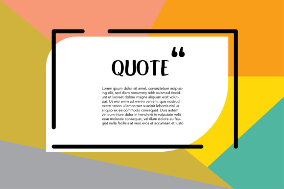 Print on Demand: Space for Quote and Text Graphic Graphic Templates By Frog Ground