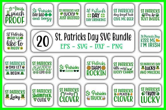 Print on Demand: St. Patrick's Day Design Bundle Graphic Crafts By GraphicsBooth