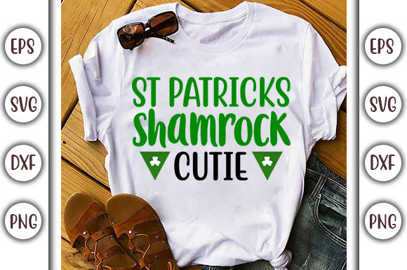 Download Free St Patrick S Shamrock Cutie Svg Design Graphic By Graphicsbooth for Cricut Explore, Silhouette and other cutting machines.