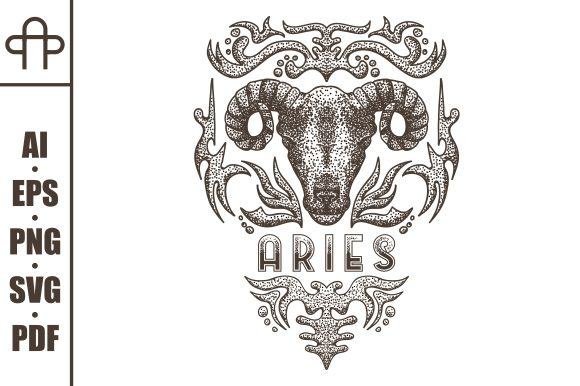 Print on Demand: Aries Vintage Graphic Illustrations By Andypp