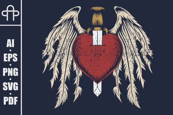 Print on Demand: Broken Heart Wing Illustration Graphic Illustrations By Andypp