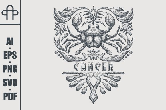 Print on Demand: Cancer Vintage Graphic Illustrations By Andypp