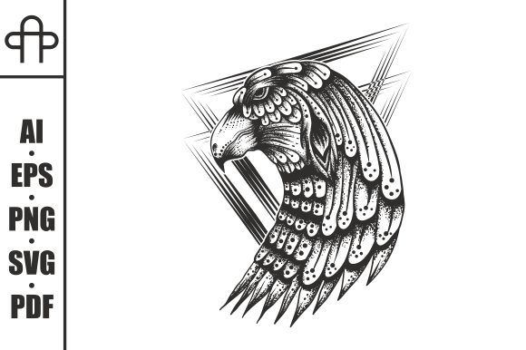 Print on Demand: Eagle Decoration Vintage Graphic Illustrations By Andypp