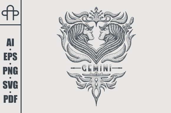 Print on Demand: Gemini Vintage Graphic Illustrations By Andypp