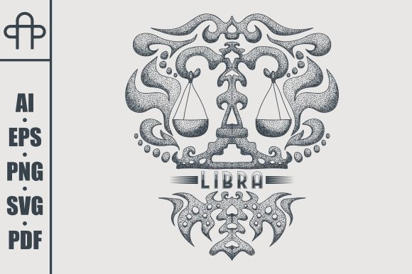 Print on Demand: Libra Vintage Graphic Illustrations By Andypp