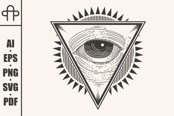 Print on Demand: One Eye Badge Illustration Graphic Illustrations By Andypp