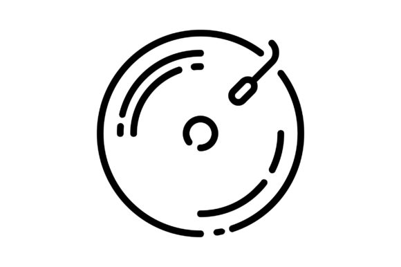 Print on Demand: Record Graphic Icons By khld939
