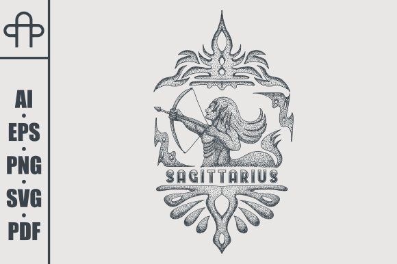 Print on Demand: Sagitarius Vintage Graphic Illustrations By Andypp