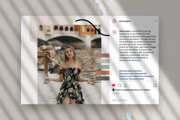 Print on Demand: 10 Instagram Puzzle Template Graphic Websites By SilverStag - Image 10